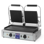 Hendi Contact Grill double | grooved-smooth | 3,6kW | 475x230mm