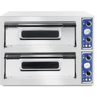 Hendi Piec do pizzy Basic 66 | 2-komorowy | 12x32cm | 14400W | 400V | 975x1220x(H)745mm