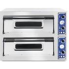 Hendi Pizza oven Basic 66 | 2-chamber | 12x32cm | 14400W | 400V | 975x1220x (H) 745mm