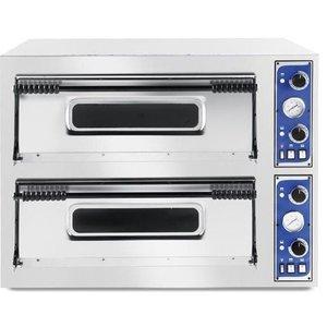 Hendi Piec do pizzy Basic 66 | 2-komorowy | 12x32cm | 14400W | 400V | 975x1220x(H)745mm