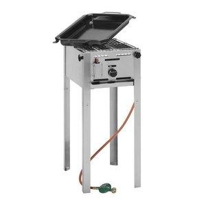 Hendi Grill gazowy master mini | 290x480mm | 5,8kW | 340x540x(H)840mm