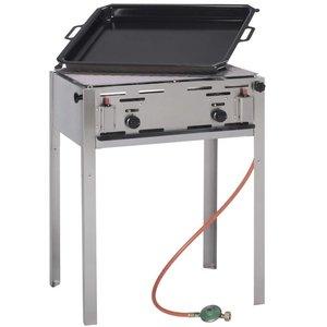 Hendi Grill gazowy grill-master maxi | 590x480mm | 11,6kW | 650x540x(H)840mm