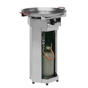 Hendi Grill gazowy FIESTA | śr. 600mm | 4,8kW | 600x600x(H)870mm