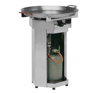 Hendi Grill gazowy FIESTA | śr. 800mm | 7kW | 800x800x(H)900mm