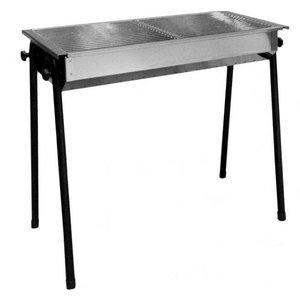 Hendi Grill na węgiel drzewny Patio | 2 x 345x345mm | 770x380x(H)760mm