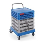 Hendi Trolley baskets for dishwashers with handle | 575x545x (H) 920mm