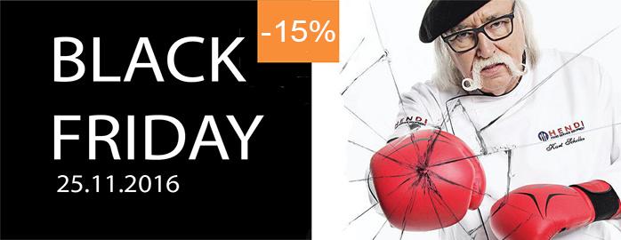 Black Friday! dodatkowy rabat -15% na produkty Hendi