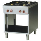 Diamond Gas stove 4-burner with open base | 2x 3.6 + 2x 5 kW | 700x650x (H) 850mm
