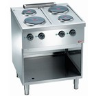 Diamond Kitchen electric 4-plate with open base | 2x 2.6 + 2x 1.5 kW | 700x700x (H) 850mm