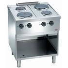 Diamond Küche elektrische 4-Platte mit offenem Boden | 2x 2,6 + 2x 1,5 kW | 700X700X (H) 850mm
