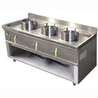 Diamond Gas cooker WOK 3-burner with open base | 23,8kW | 1500x600x (H) 760mm