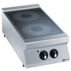 Diamond Elektrische keuken witoceramiczna 2-zone desktop   2x 3,4kW   400x900x (H) 250 / 320mm
