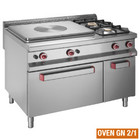 Diamond Gasherd 2-Flammen-Kocher mit 755x625mm und Gasofen GN2 / 1