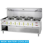 Diamond Gas cooker WOK 7-burner with a water jacket and an open base | 4x 23.8 + 3x 11,25kW | 2100x900x (H) 760/1300