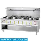 Diamond Kuchnia gazowa WOK 7-palnikowa z płaszczem wodnym | 4x 23,8 + 3x 11,25kW | 2100x900x(H)760/1300mm