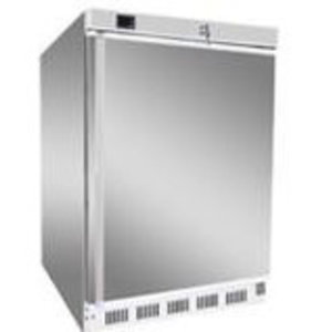 RM GASTRO Szafa chłodnicza | srebrna | 130L | +2 do +8 °C  | 600x585x855mm