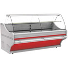 XXLselect Cooling counter with WEGA unit | Forced circulation | 750x1100x (H) 1250mm | bent glass