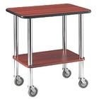 Diamond Trolley table | chroom buis | Niveau 2 | 710x460x (H) 780mm