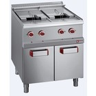Diamond Electric fryer with cabinet | 2 tanks | 13L | 18000W | 700x700x (H) 850 / 920mm