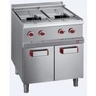 Diamond Elektrische friteuse met het kabinet | 2 tanks | 13L | 18000W | 700x700x (H) 850 / 920mm