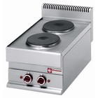 Diamond Electric kitchen tabletop | 2 round burners | 5200W | 400x650x (H) 280 / 380mm