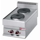 Diamond Elektrische Küchentischplatte | 2 runder Brenner | 5200W | 400x650x (H) 280 / 380mm