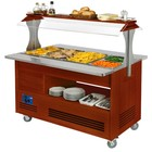 Diamond Bain-marie verwarming | buffet | 4x GN 01.01 (H) 150 mm | mahonie | + 20 ° + 90 ° | 3500W | 1440x660 (960) x (H) 1405mm