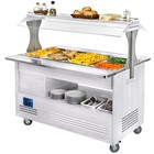 Diamond Bain-marie verwarming | buffet | 4x GN 01.01 (H) 150 mm | wit hout | + 20 ° + 90 ° | 3500W | 1440x660 (960) x (H) 1405mm
