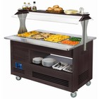 Diamond Bain-marie verwarming | buffet | 4x GN 01.01 (H) 150 mm | wengehout | + 20 ° + 90 ° | 3500W | 1440x660 (960) x (H) 1405mm
