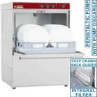 Diamond afwasmachine | mand 500x500mm | afvoerpomp | 5400W | 580x600x (H) 820mm