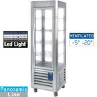 Diamond Refrigerated fully glazed | ventilated | 360L | 5 shelves | stainless steel | -5 ° -20 ° | 800W | 600x630x (H) 1850mm