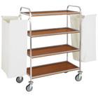 Diamond Wózek na pranie | 4-półkowy | z 2 workami | 810/1200x520x(H)1370mm