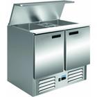Saro Stół sałatkowy S 900 E | +2/+8 °C | 115W | 230V | 903x700x(H)850-885mm