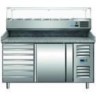 Saro Stół do pizzy PZ 1610 TN | +2/+8 °C | 221L | 230W | 230V | 1515x800x(H)1030-1090mm