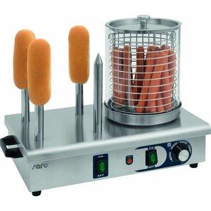 Saro Podgrzewacz do parówek HW 2 | 0/+110 °C | 450W | 230V | 330x290x(H)410mm