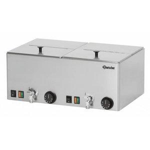 Bartscher Podgrzewacz do kiełbasek 2KA20 | 30 °C - 90 °C | 2000W | 230V | 535x370x(H)240mm