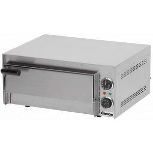 Bartscher Piec do pizzy elektryczny - jednokomorowy | 1 x pizza Ø 35 cm