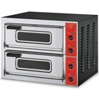 GGF 2-chamber pizza oven | 2 x pizza 50 cm | stainless steel | 230