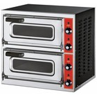 GGF 2-chamber pizza oven | 2 x pizza 30 cm | stainless steel | 230