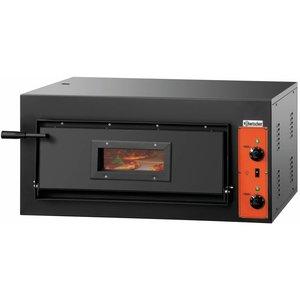 Bartscher Pizza Oven Enkel Elektrisch   4 Pizza's 30 cm CT 100
