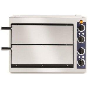 Hendi Piec do pizzy Basic 2/40 | 2-komorowy | 2x32cm | 2400W | 230V | 567x427,5x(H)428mm