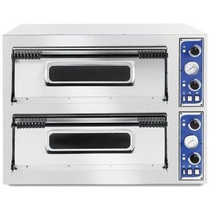 Hendi Piec do pizzy Basic XL 44 | 2-komorowy | 8x35cm | 12000W | 400V | 1000x844x(H)745mm