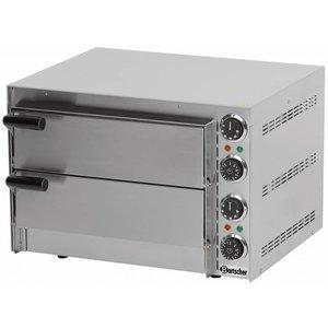 Bartscher Pizzaoven Dubbel Elektrisch | 2 x Pizza 35 cm Mini 2