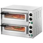 Bartscher Piec do pizzy dwukomorowy Mini Plus 2 | 2 pizze Ø 35 cm | 3400W | 230V | 570x550x(H)475mm