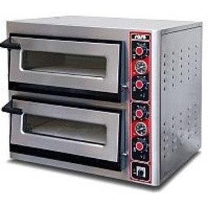 Saro Piec do pizzy elektryczny - dwukomorowy   2x 6 pizza Ø 30 cm