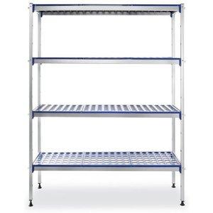 Hendi Regał magazynowy aluminiowy z możliwością rozbudowy | 1280x405x(H)1685mm