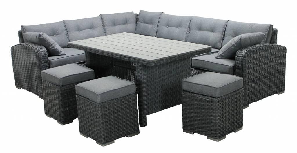 Lounge Diningsets Inclusief 3 Hockers Tuinmeubelcentrum