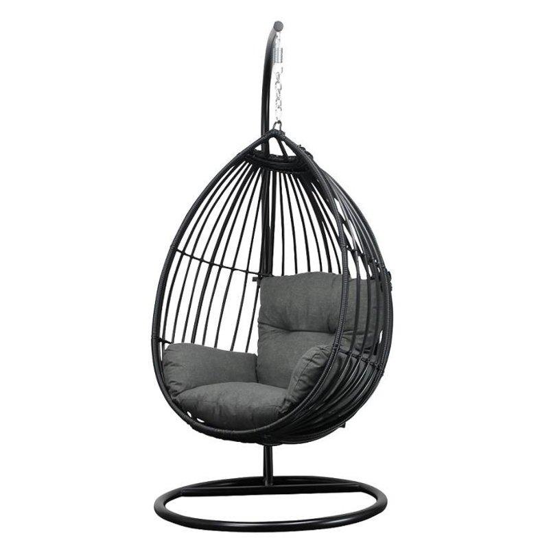 Luxe Kissen fur hängesessel und eggchair antrazit - Gartenmöbel mit ...