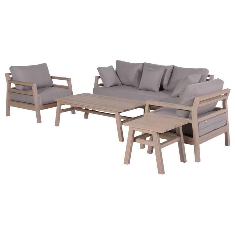 garden impressions bali vironwood loungeset 5 teilig. Black Bedroom Furniture Sets. Home Design Ideas