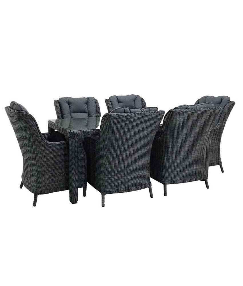 Reint Middel Osborn Diningset Grey wicker